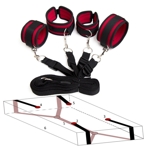 Auxiliary sex bondage Under The Bed Restraint System Kit