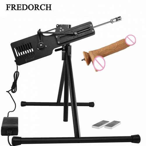 FREDORCH Large Triangle bracket Sex Machine Wireless Remote Control With Dildo Vac u Lock & 3XLR Connector super stable F14